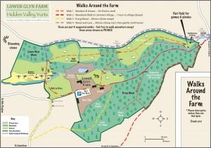 Hidden Valley Yurts Lower Glyn Farm Map with Walks