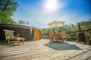 Yurt deck smaller
